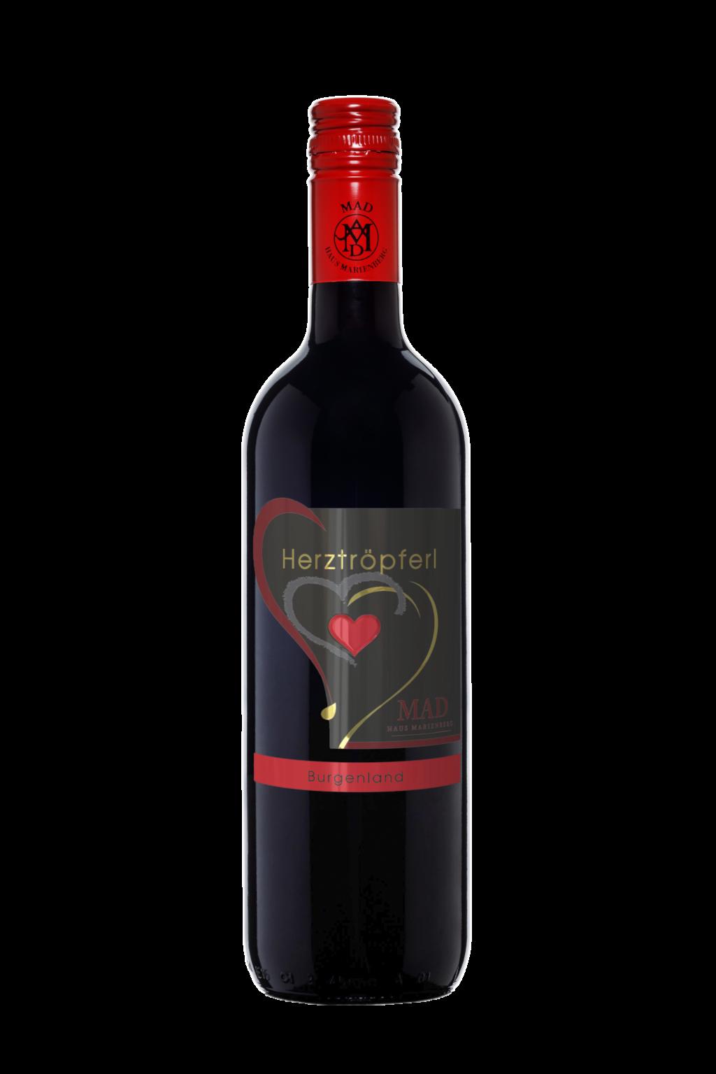 Herztröpferl Wein rot