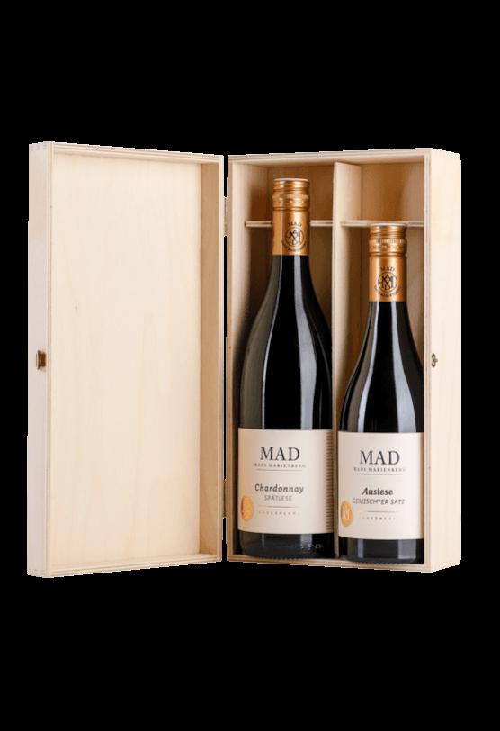 Süßweine 2er Paket Chardonnay Spätlese und Auslese Gemischter Satz